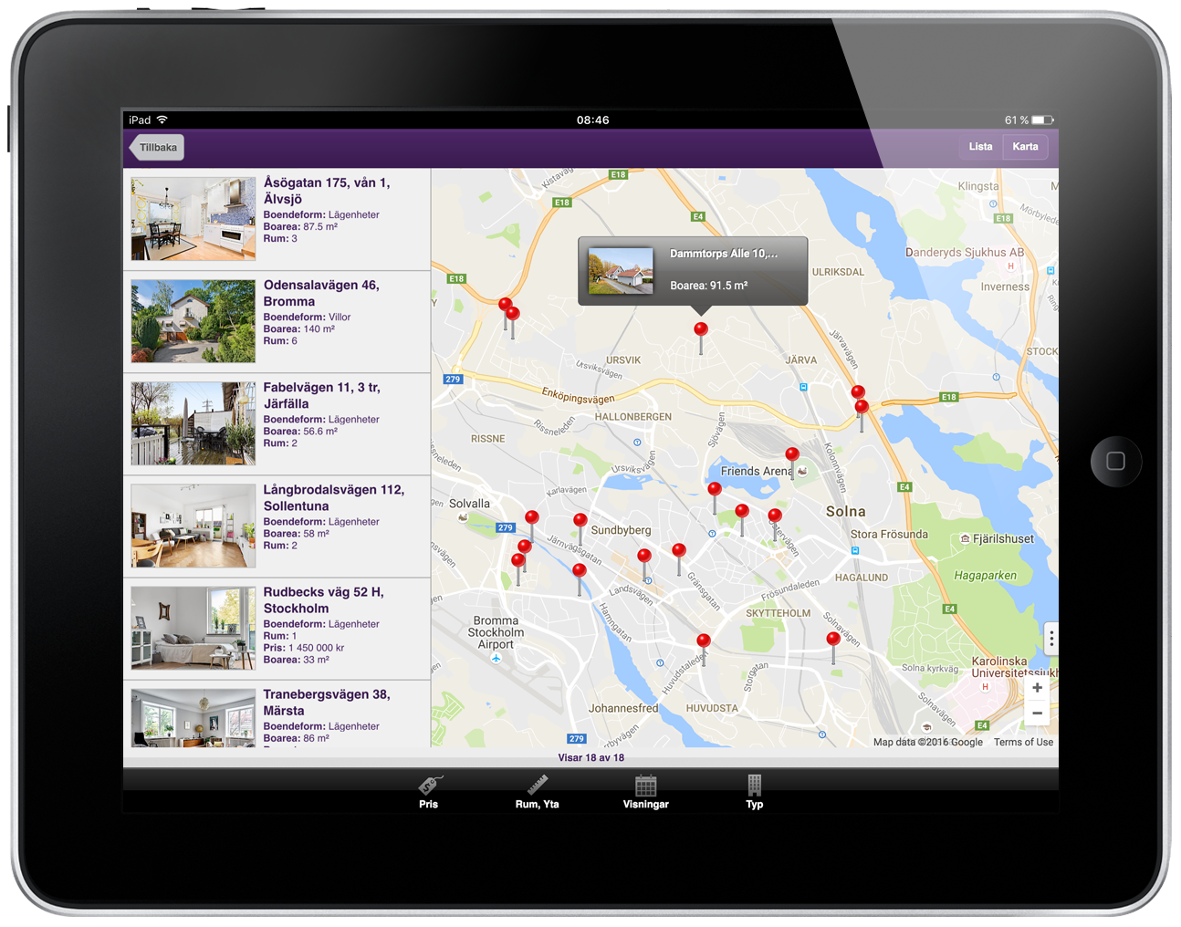 Standard Solution for Realtors for iPad.