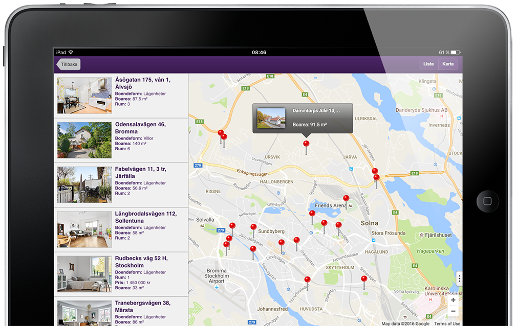 Standard Solution for Realtors web app.