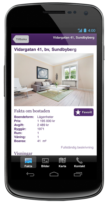 Standard Solution for Realtors for Android Devices.